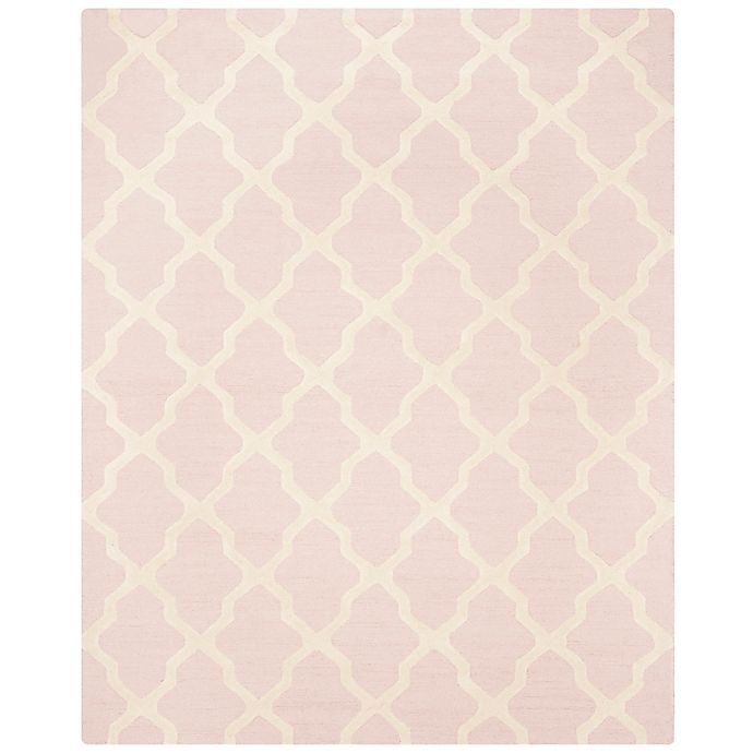 Alternate image 1 for Safavieh Cambridge 8-Foot x 10-Foot Quatrefoil Rug in Light Pink/Ivory