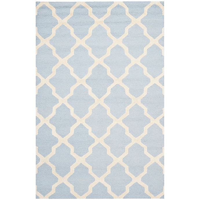 Alternate image 1 for Safavieh Cambridge 6-Foot x 9-Foot Quatrefoil Rug in Light Blue/Ivory