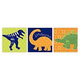 Imagine Fun Dino Doodles Canvas Wall Art (Set of 3)