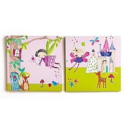 Imagine Fun Woodland Fairies Canvas Wall Art (Set of 2)