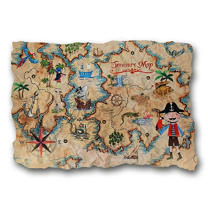 Imagine Fun Pirates Ahoy Treasure Map Decorative Wall Plaque ... on decorative nautical maps, blue wall maps, office wall maps, decorative map of usa, retro wall maps, decorative travel map, laminated wall maps, red wall maps, decorative vintage maps, decorative framed maps, long antique maps, push pin wall maps, decorative world maps, military wall maps, do it yourself state maps, home wall maps, c s hammond maps, city wall maps, wood wall maps, custom wall maps,