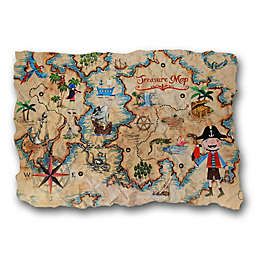 Imagine Fun Pirates Ahoy Treasure Map Decorative Wall Plaque