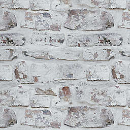V.I.P Whitewashed Brick Wallpaper in White
