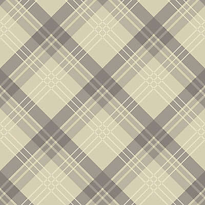 Arthouse Fairburn Tartan Wallpaper in Neutral
