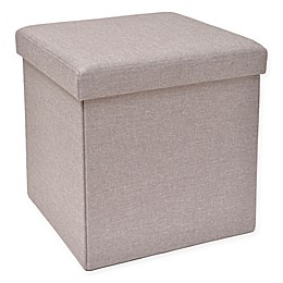 Studio 3B™ Folding Storage Ottoman with Tray
