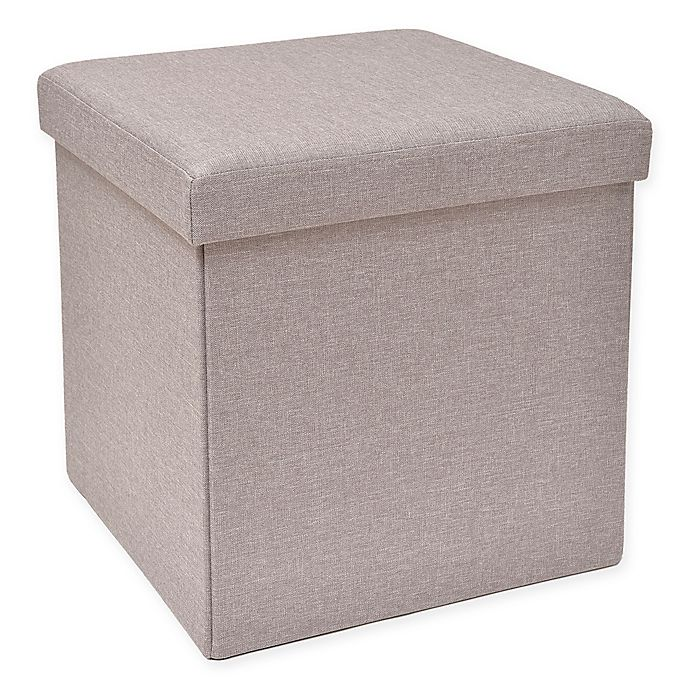 Alternate image 1 for Studio 3B™ Folding Storage Ottoman with Tray