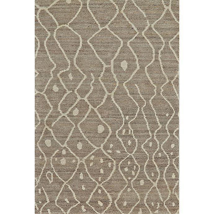 Alternate image 1 for Feizy Midelt Curves and Dots 8-Foot 6-Inch x 13-Foot 6-Inch Area Rug in Natural/Grey