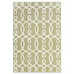 Feizy Amalazari 5-Foot x 8-Foot  Hand-Hooked Area Rug in Green/White