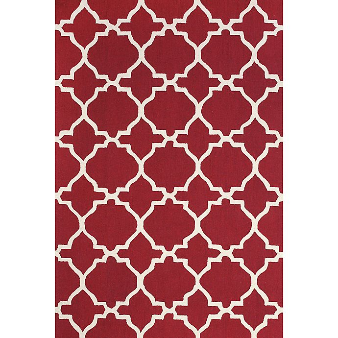 Alternate image 1 for Feizy Amalazari 7-Foot 6-Inch x 9-Foot 6-Inch Hand-Hooked Area Rug in Red/White