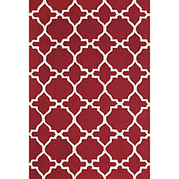 Feizy Amalazari 8-Foot 6-Inch x 11-Foot 6-Inch Hand-Hooked Area Rug in Red/White