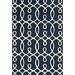 Feizy Amalazari 8-Foot 6-Inch x 11-Foot 6-Inch Hand-Hooked Area Rug in Navy/White
