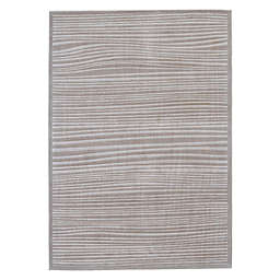 Feizy Katia 7-Foot x 10-Inch Runner in Taupe/White