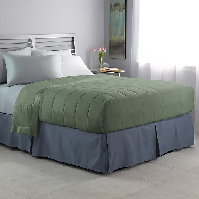 Alternate image 1 for Brook Check Dobby Down King Blanket in Green