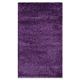 Safavieh Milan Shag 3-Foot x 5-Foot Sienna Rug in Purple