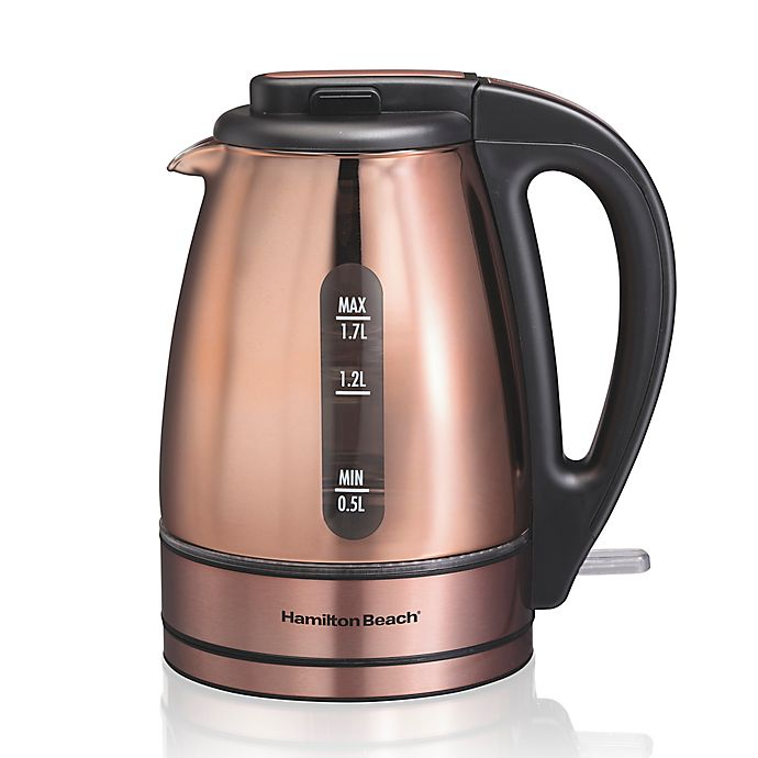 Alternate image 1 for Hamilton Beach® Glass Kettle in Copper