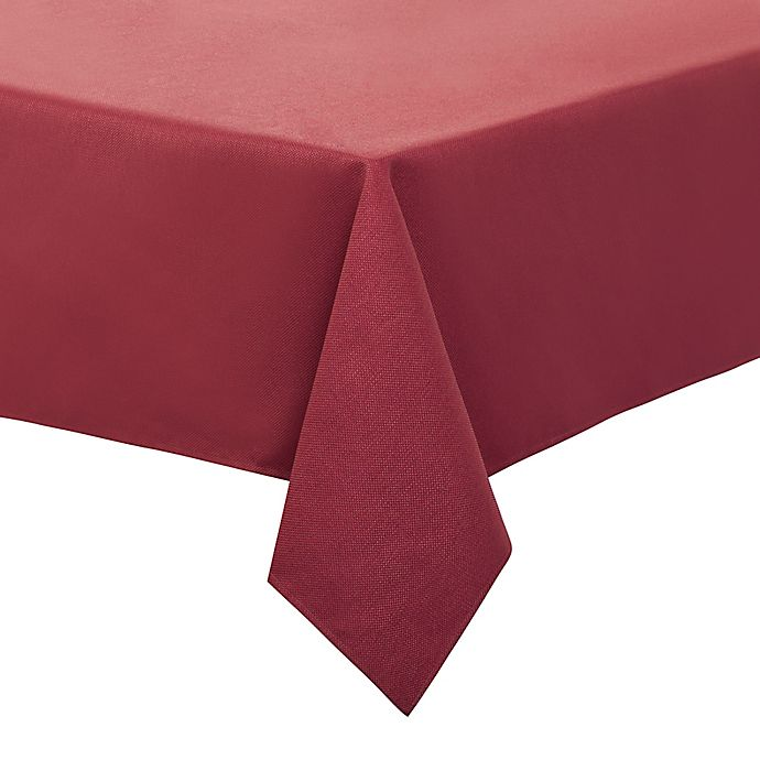 Alternate image 1 for Basketweave 52-Inch Square Tablecloth in Red