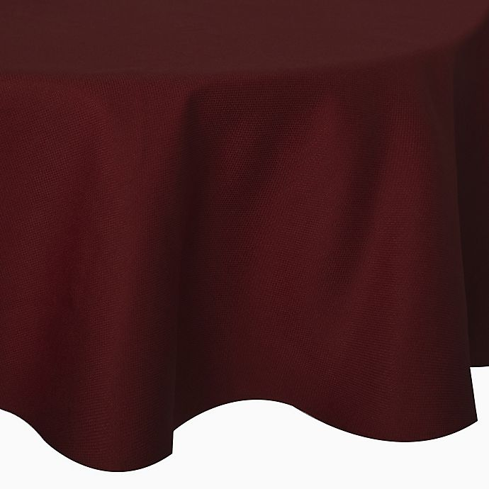Alternate image 1 for Basketweave 90-Inch Round Tablecloth in Cherry