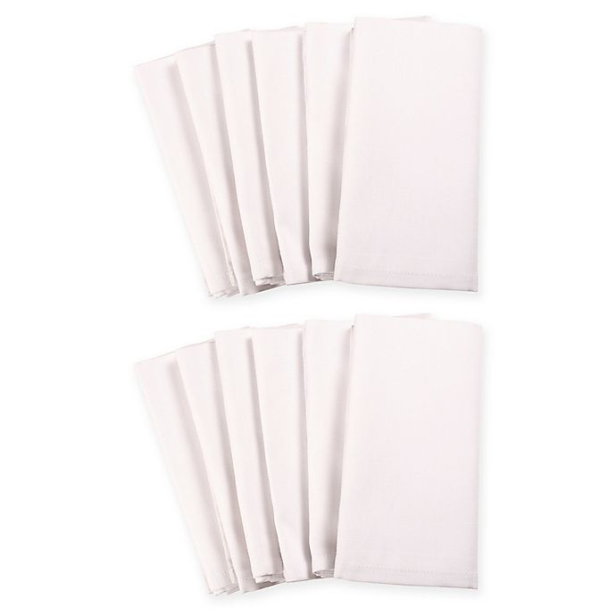 Alternate image 1 for 12-Pack Solid Dinner Napkins