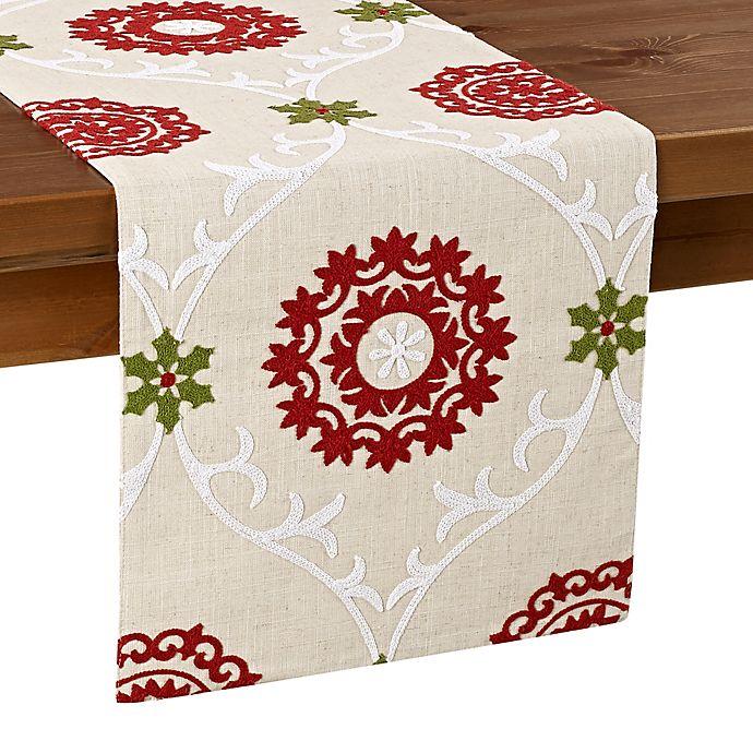 Alternate image 1 for Folklore Poinsettia Table Runner