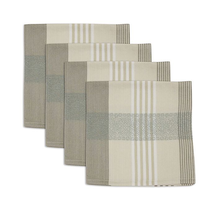 Alternate image 1 for Echo Pareo Woven Napkin in Mist (Set of 4)