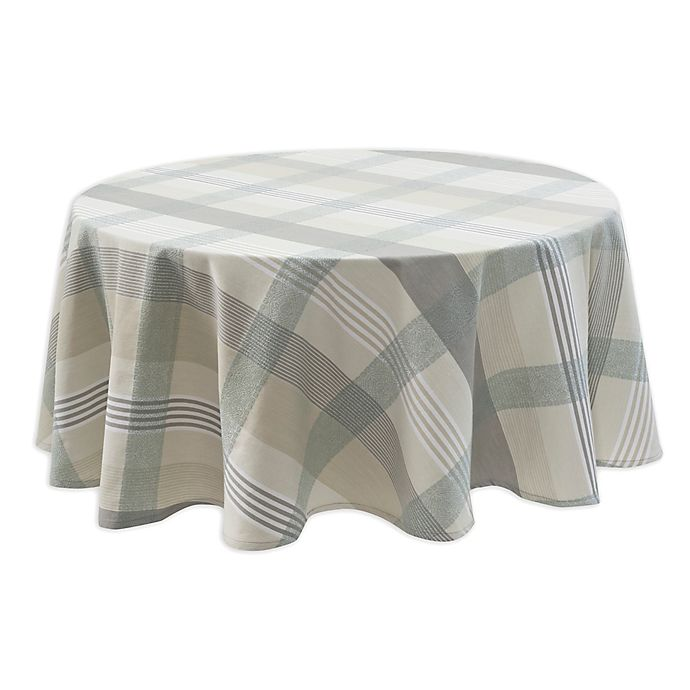 Alternate image 1 for Echo Design Pareo 70-Inch Round Tablecloth in Mist
