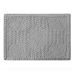 Washed Velvet Placemat in Grey