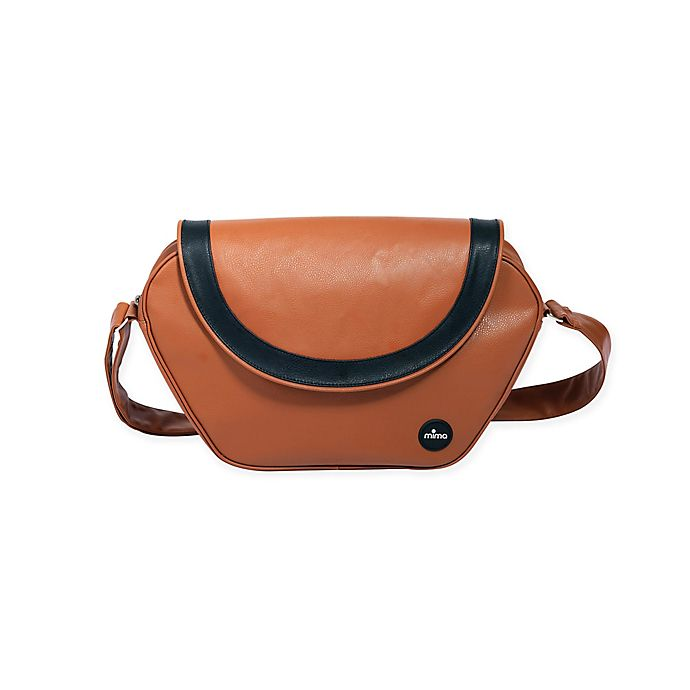 Alternate image 1 for Mima® Trendy Faux Leather Changing Bag in Camel
