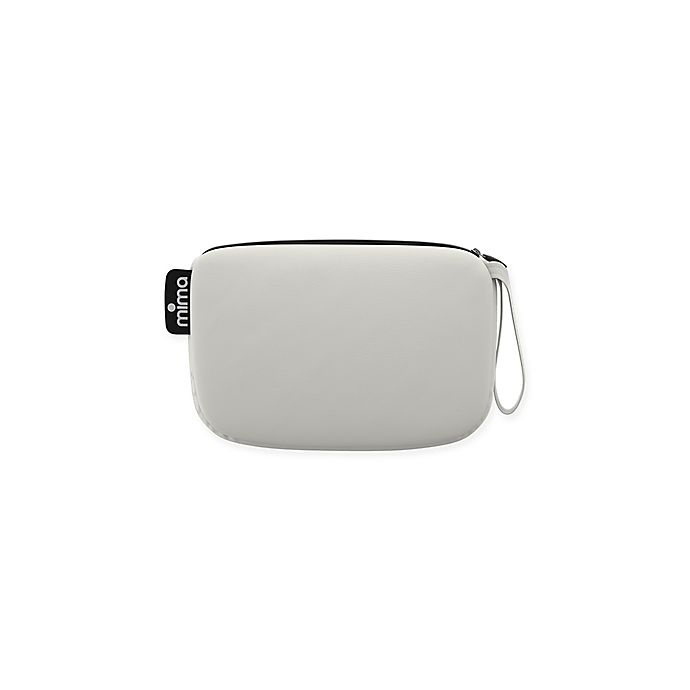 Alternate image 1 for Mima® Faux Leather Clutch in Snow White