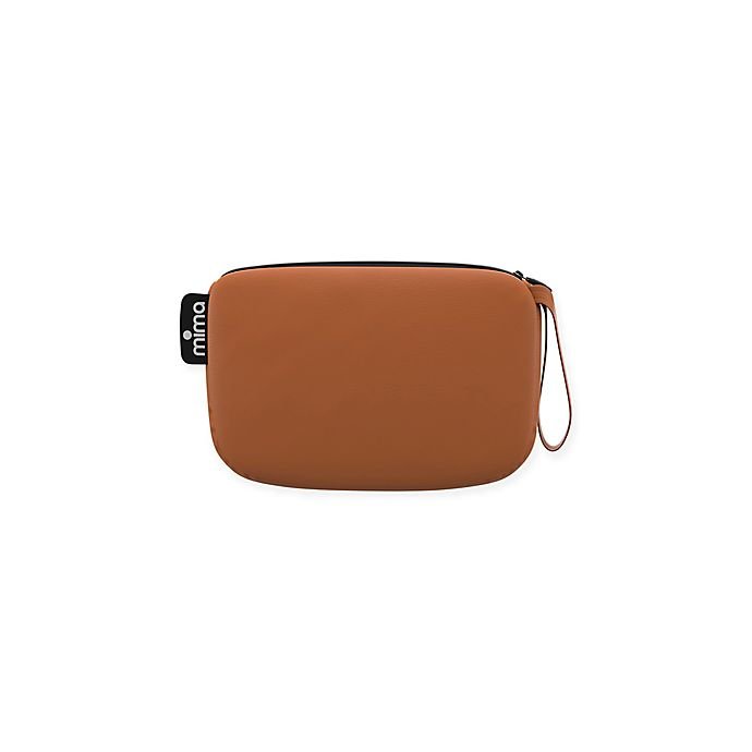 Alternate image 1 for Mima® Faux Leather Clutch in Camel