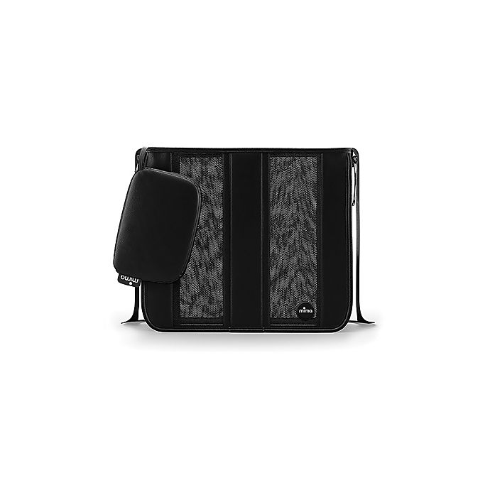 Alternate image 1 for Mima® Faux Leather Tote Diaper Bag in Black