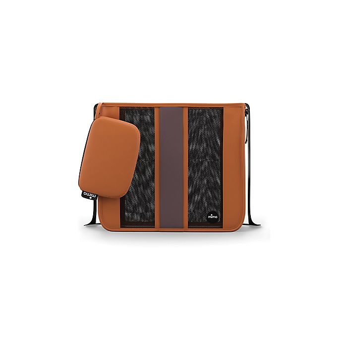 Alternate image 1 for Mima® Faux Leather Tote Diaper Bag in Camel