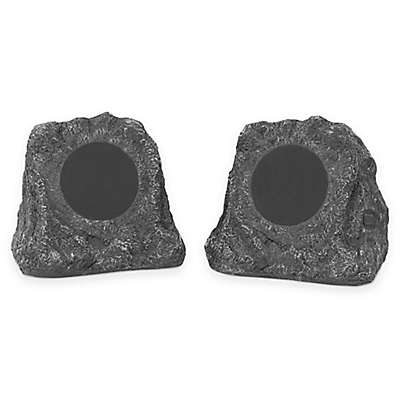 Innovative Technology™ Wireless Waterproof Bluetooth Outdoor Rock Speakers (Set of 2)