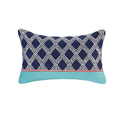 Josie By Natori Mix & Match Oblong Pillow in Aqua Multi