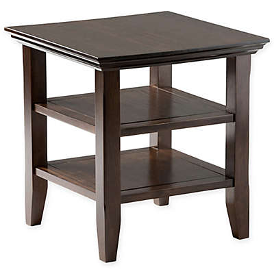 Acadian Pine End Table in Tobacco Brown