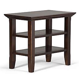 Acadian Pine Narrow Side Table in Tobacco Brown