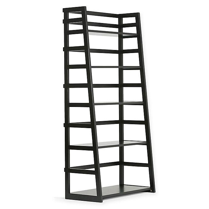Alternate image 1 for Acadian Pine Ladder Shelf in Black