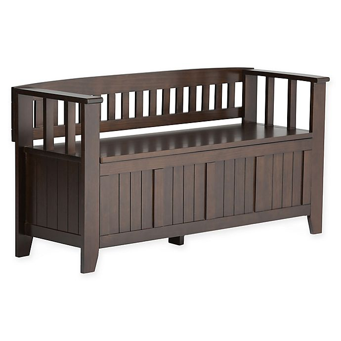 Alternate image 1 for Acadian Pine Entryway Bench in Tobacco Brown