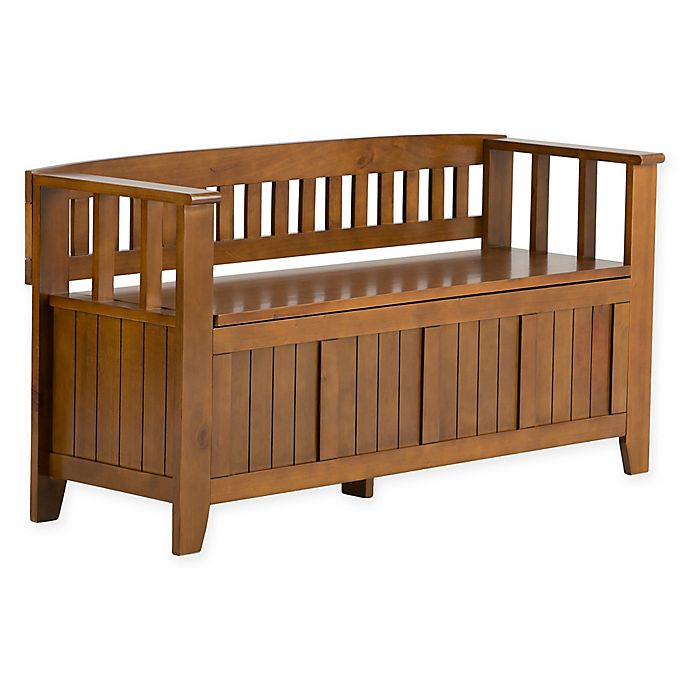 Alternate image 1 for Acadian Pine Entryway Bench in Light Avalon Brown