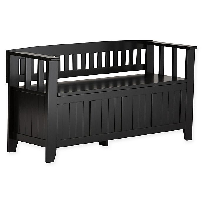 Alternate image 1 for Acadian Pine Entryway Bench in Black