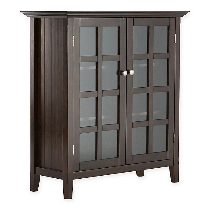 Alternate image 1 for Acadian Pine 4-Shelf Storage Cabinet in Tobacco Brown