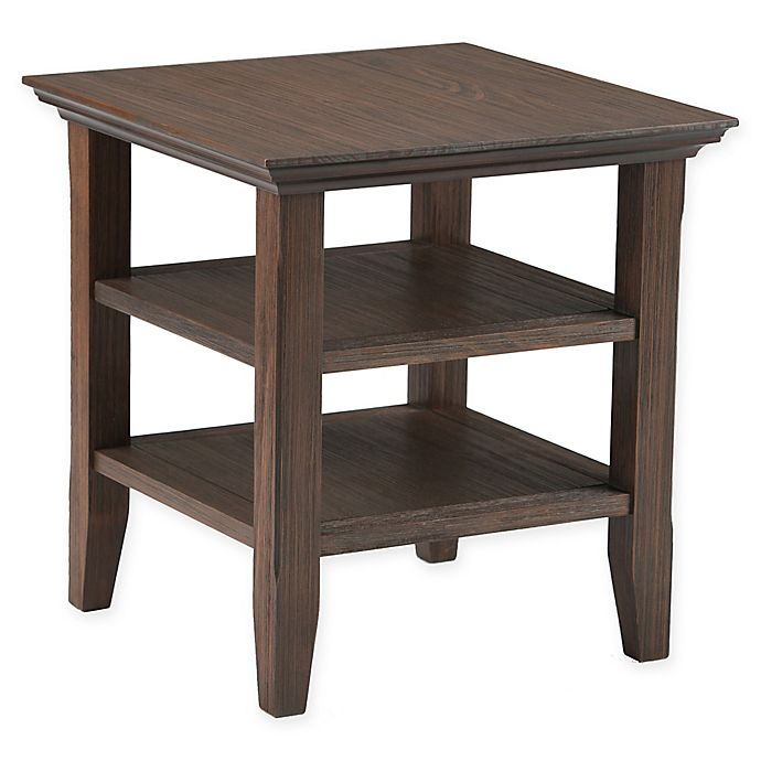 Alternate image 1 for Acadian Pine End Table in Farmhouse Brown