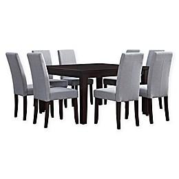 Simpli Home Acadian 9-Piece Dining Set