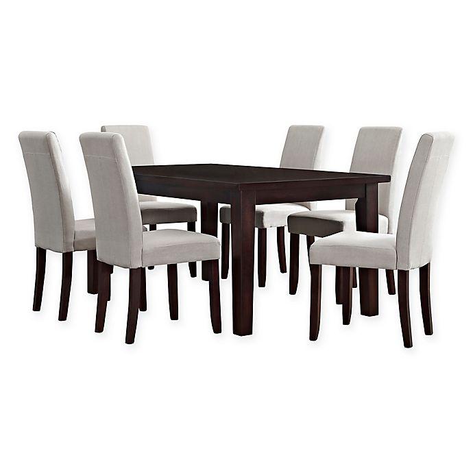 Alternate image 1 for Simpli Home Acadian 7-Piece Dining Set