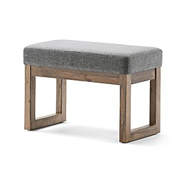 Milltown Small Ottoman Bench in Grey