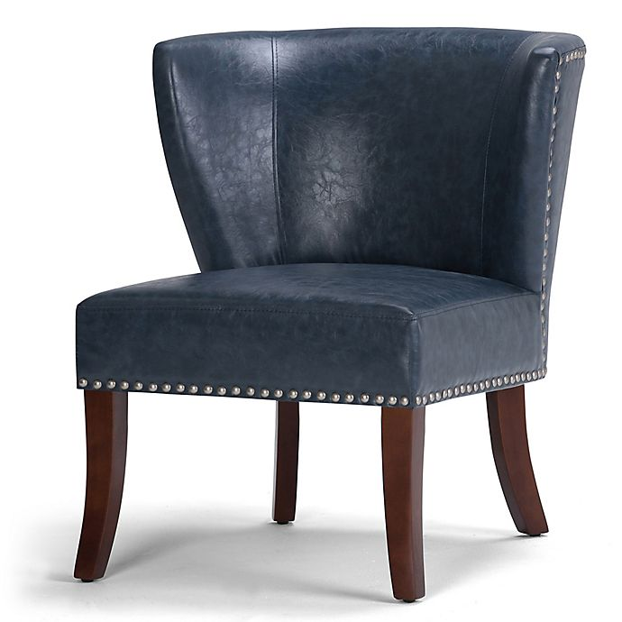 Alternate image 1 for Jameston Bonded Leather Accent Chair in Denim Blue