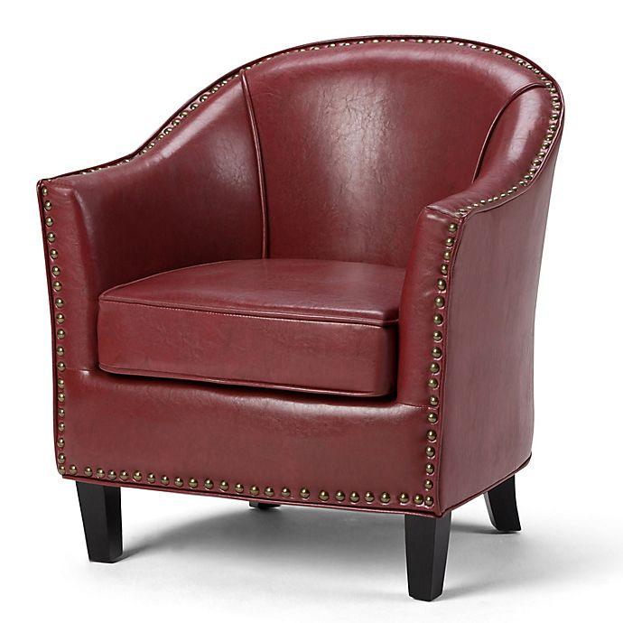 Awe Inspiring Kildare Bonded Leather Tub Chair Bed Bath Beyond Machost Co Dining Chair Design Ideas Machostcouk