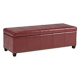 Kingsley Bonded Leather Storage Bench