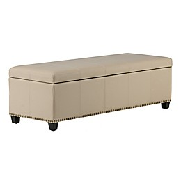 Kingsley Bonded Leather Storage Bench