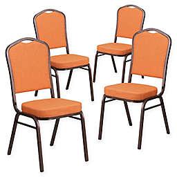 Flash Furniture Hercules Banquet Chairs in Orange/Copper (Set of 4)