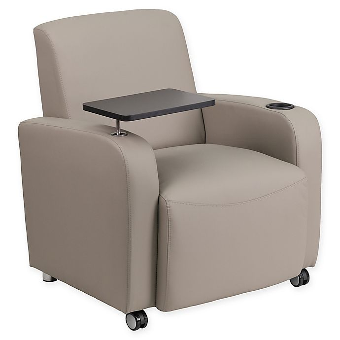 Alternate image 1 for Flash Furniture 35-Inch Guest Wheeled Leather Chair
